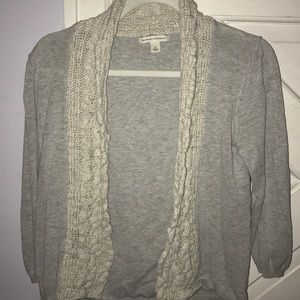 Banana Republic Cardigan with Knit Lace Design